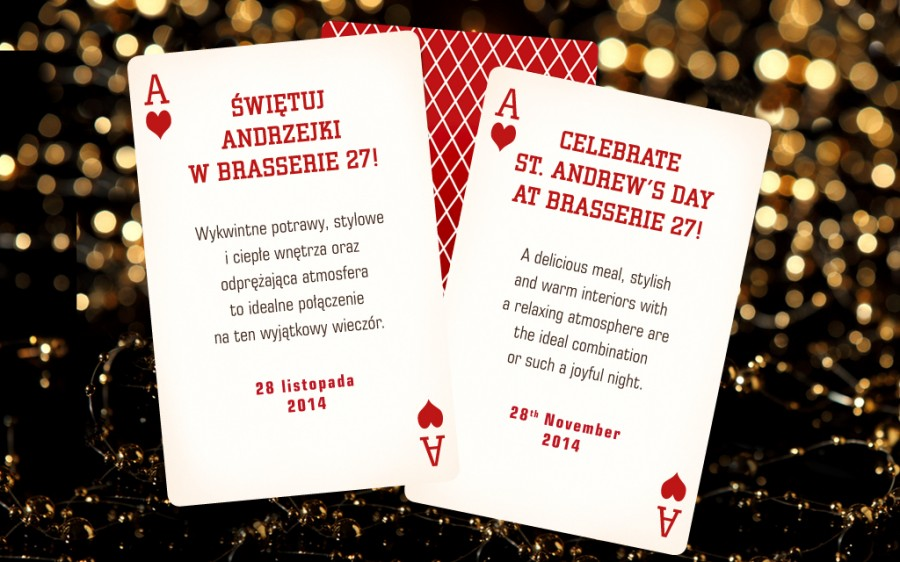 Celebrate St. Andrew's Day at Brasserie 27!