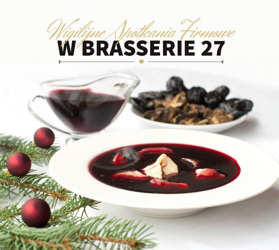 Firmowe Spotkania Wigilijne w Brasserie 27